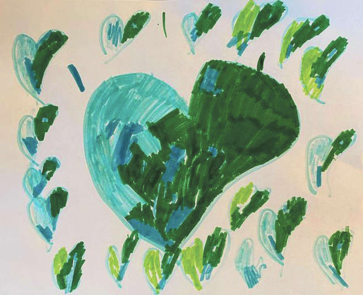 Lucy Melcher, 5, shared this drawing for Earth Day. She is the daughter of Erica Melcher and attends First Christian Preschool.