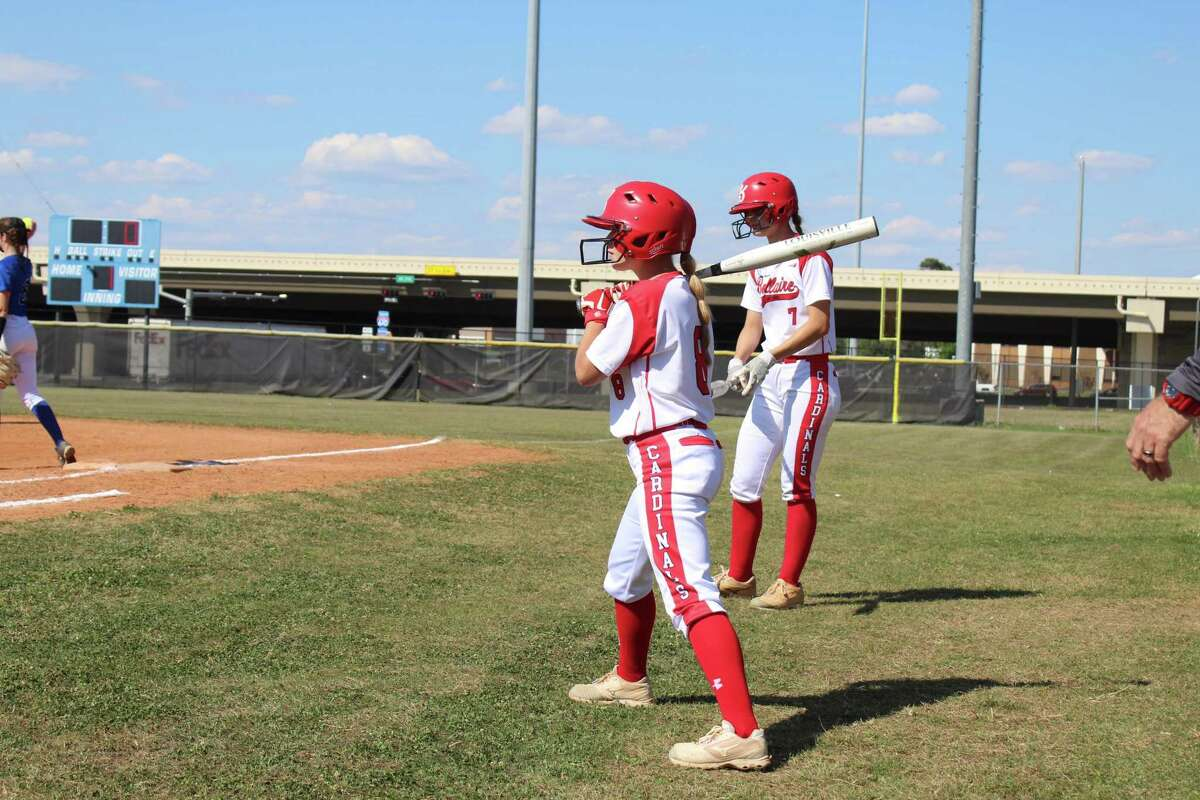 Bellaire leadoff hitter Megan Morris prepares for her first plate apperance against Westside in a District 18-6A game on Tuesday night at the Delmar Sports Complex.
