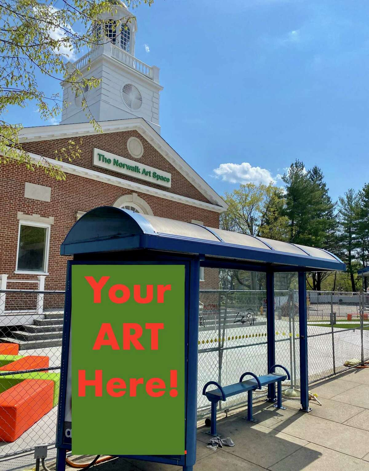 Norwalk high schoolers are invited to submit poster entries to decorate two bus shelters outside the Norwalk Art Space on West Avenue.