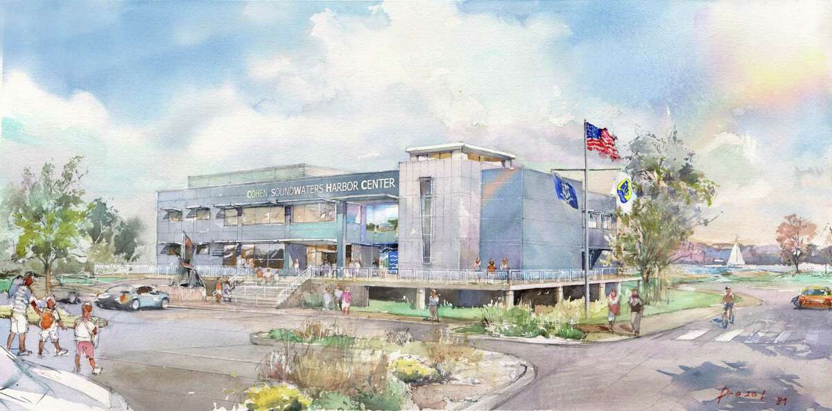 A rendering of the upcoming Cohen SoundWaters Harbor Center, slated to open in mid-2022.