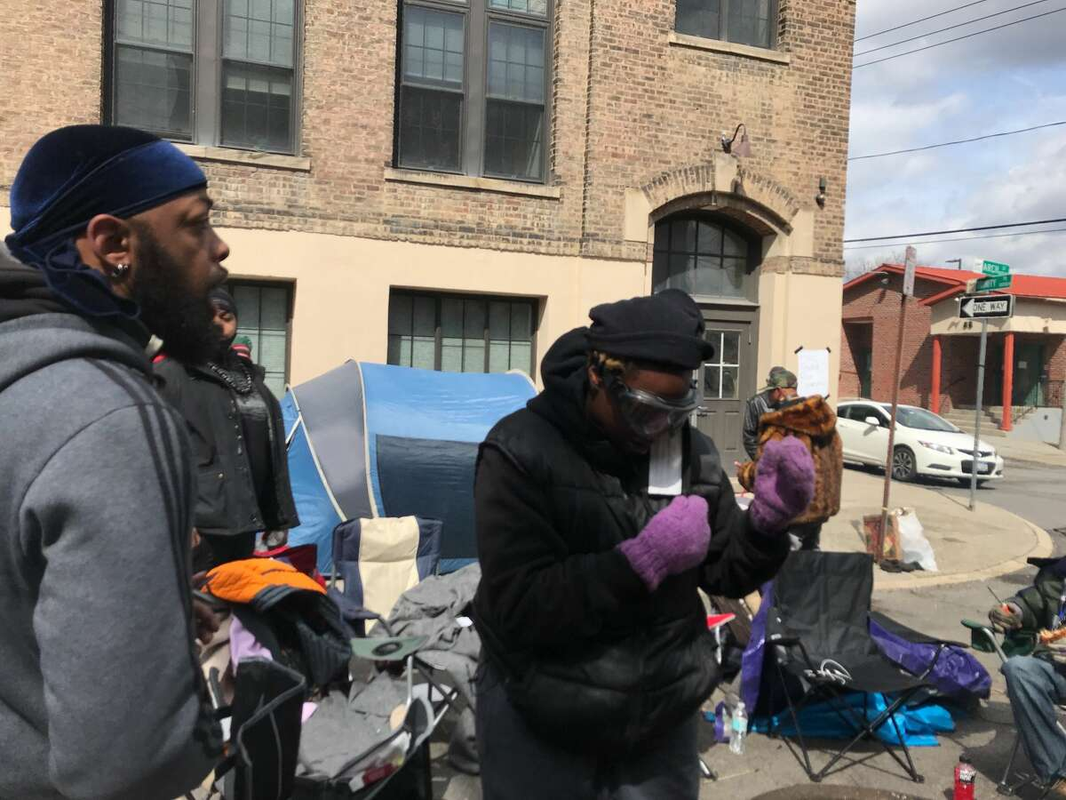 In a sign of possible escalation of tension between police and an encampment of protesters next to South Station,Police Chief Eric Hawkins on Thursday declared it was
