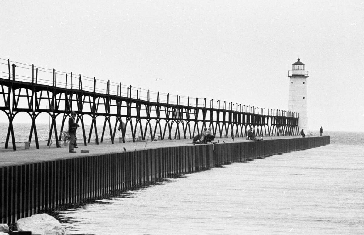 Pictured is a view of the Manistee North Pierhead Lighthouse in late April 1981. (Manistee County Historical Museum photo)