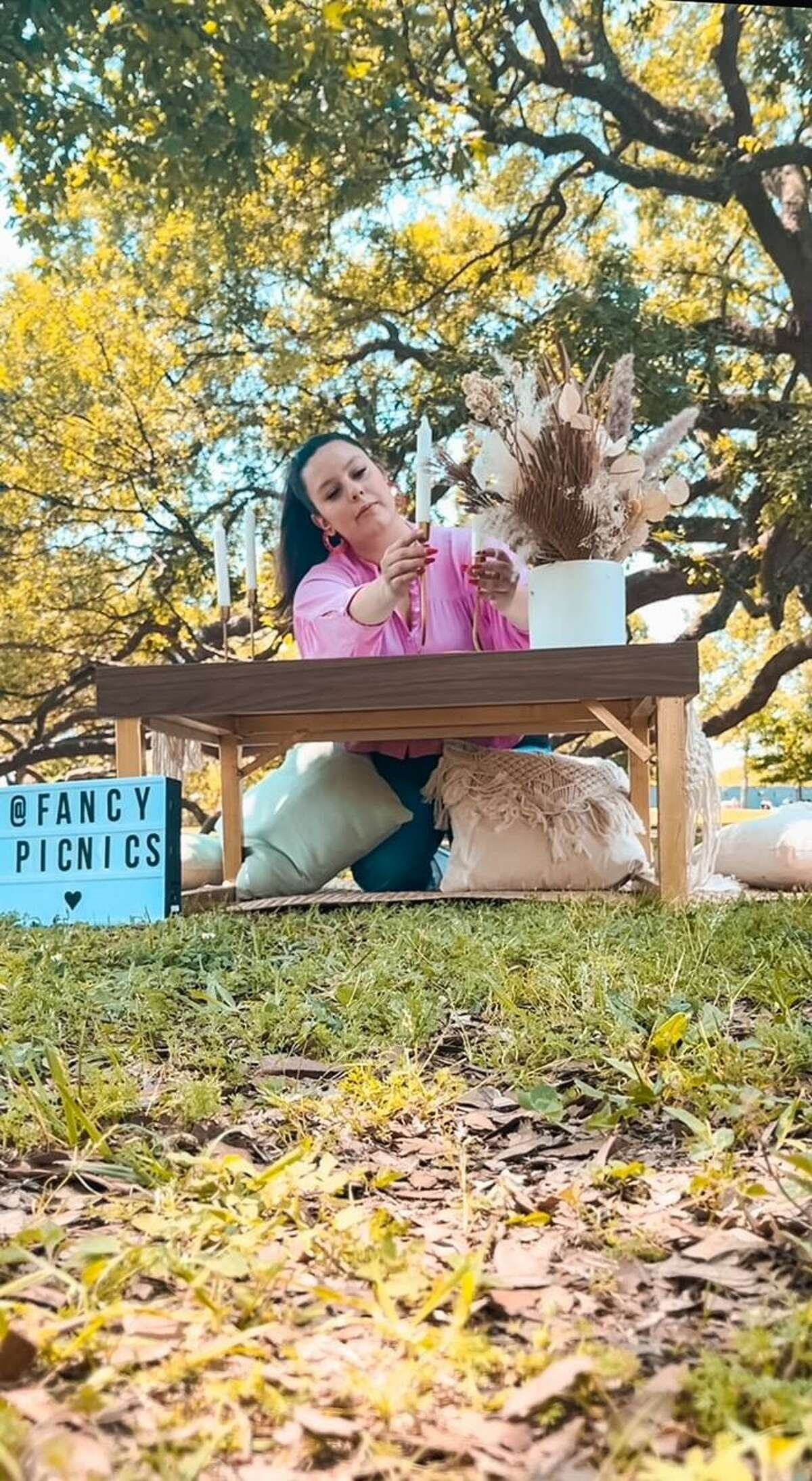 Brenda Vilchis (pictured here) launched Fancy Picnics on Instagram while a sophomore studying hospitality management at University of Houston's Conrad N. Hilton College of Hotel and Restaurant Management