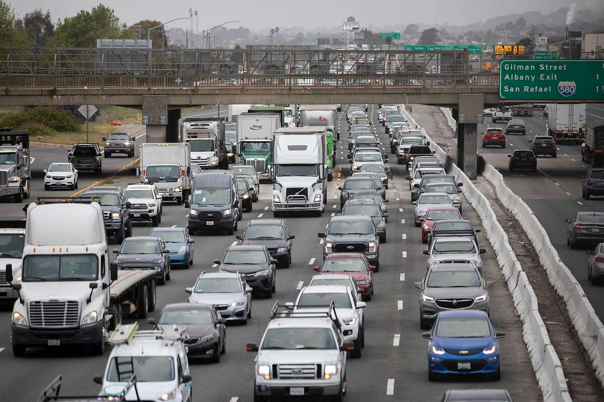Morning traffic mounts on Interstate 80 in Berkeley. California is the largest car market in the United States, so rules the state sets for vehicle emissions essentially become the U.S. standard.