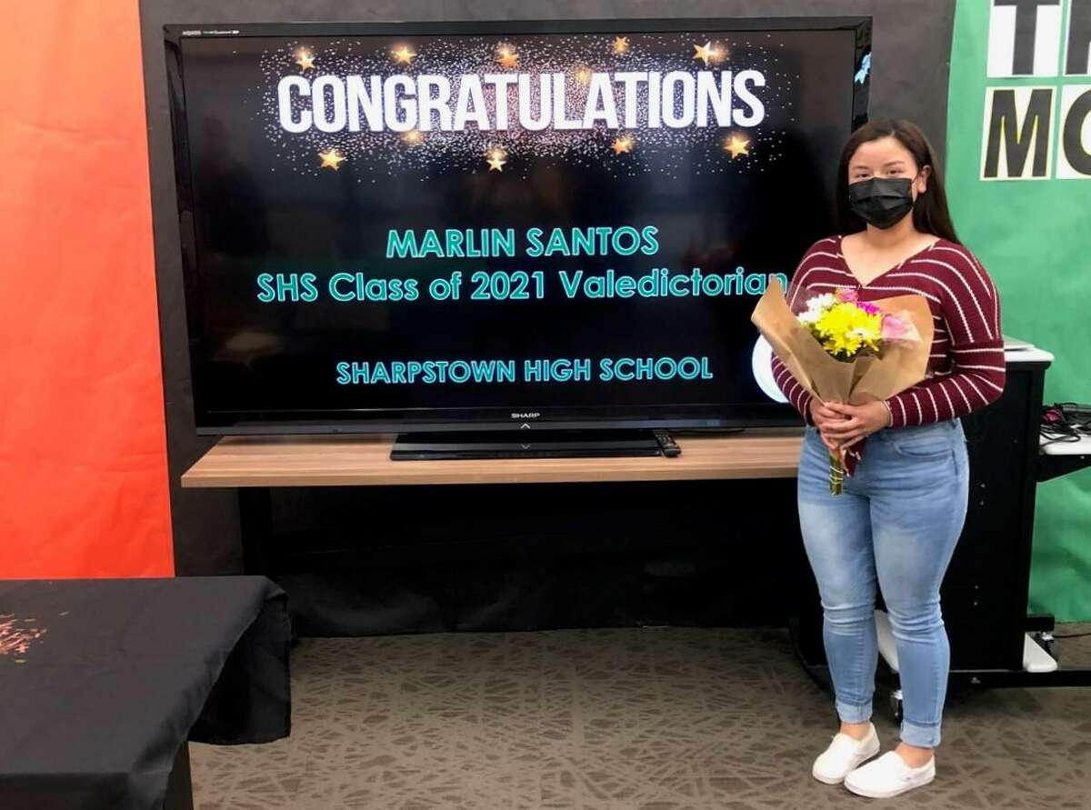 Marlin Santos is the valedictorian for Sharpstown High School and plays volleyball and softball for the Lady Apollos.