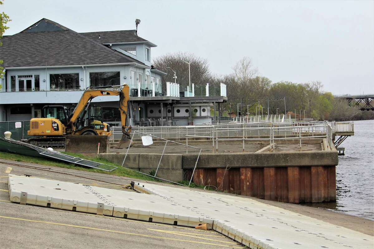 Construction is underway at Harbor Park off Harbor Drive in Middletown. New railings, boardwalk, LED lighting green spaces and safe railings will be installed at the Connecticut River.