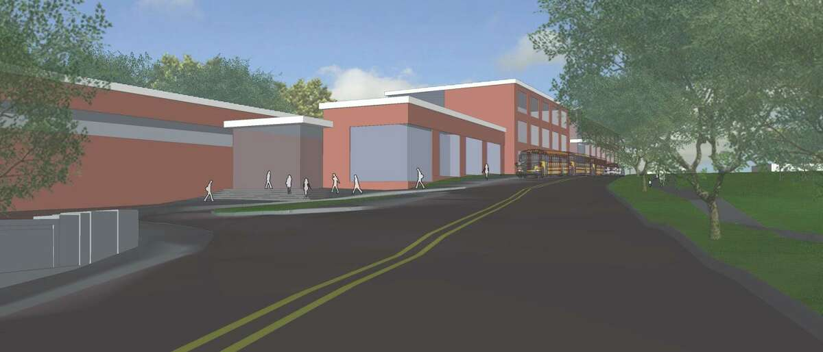 A rendering of the proposed Danbury Prospect Charter School.