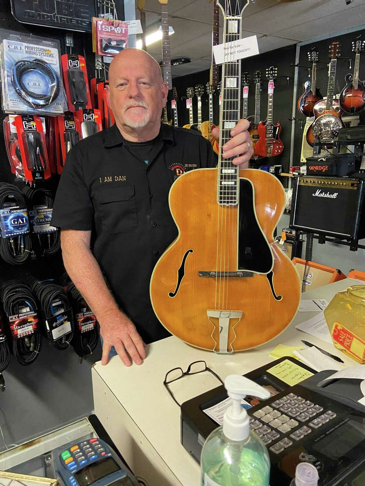 Dan's Guitars and Music has been in Cleveland since 2006, owned and operated by Dan Kiblinger with over 35 years in the music industry. Dan's Guitars has a large collection of vintage guitars they buy, sell, restore and repair from collectors, rock artists, country artists, and even recovered from floods. Pictured here is owner Dan Kiblinger.