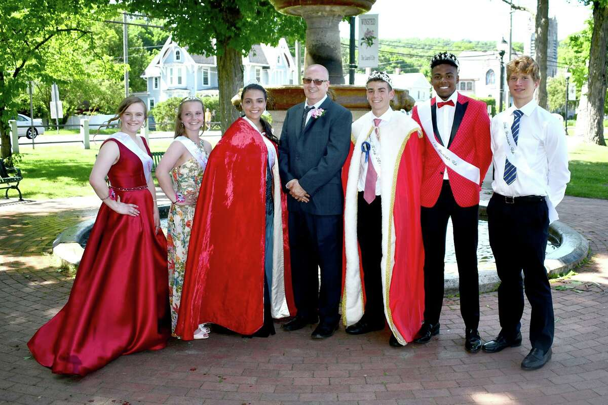 Above, the Lauren King and Queen are crowned at the 2019 Winsted Laurel Festival.