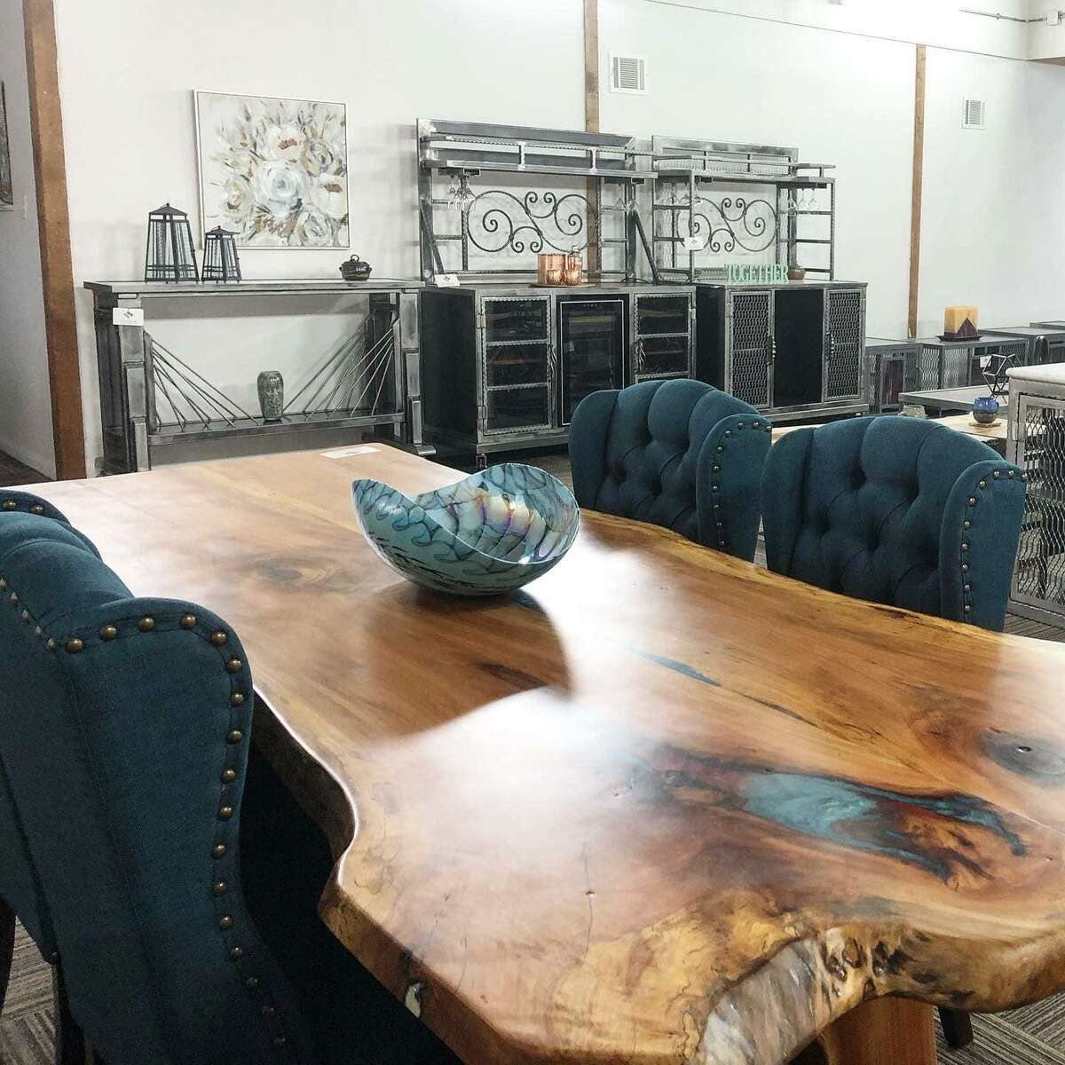 Superior Metal Designs in Pearland and specializes in custom furnishings.