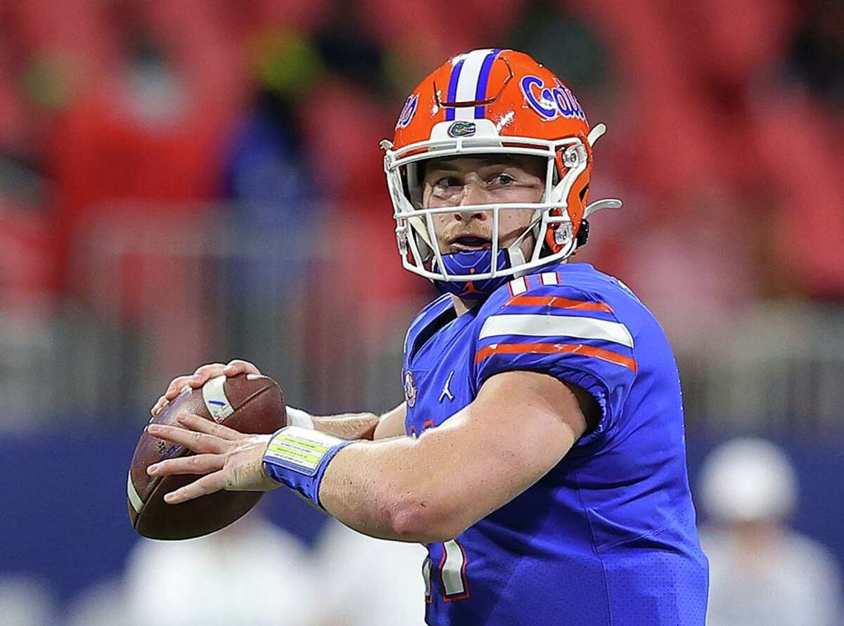 Florida quarterback Kyle Trask, from Manvel High School, could be available in the third round of the NFL draft for the Texans if they choose to pick a QB.