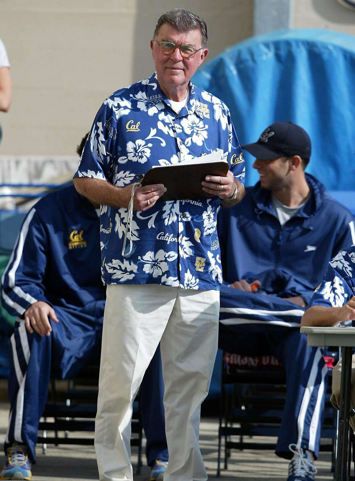 Men's swimming coach Nort Thornton led Cal to two national titles