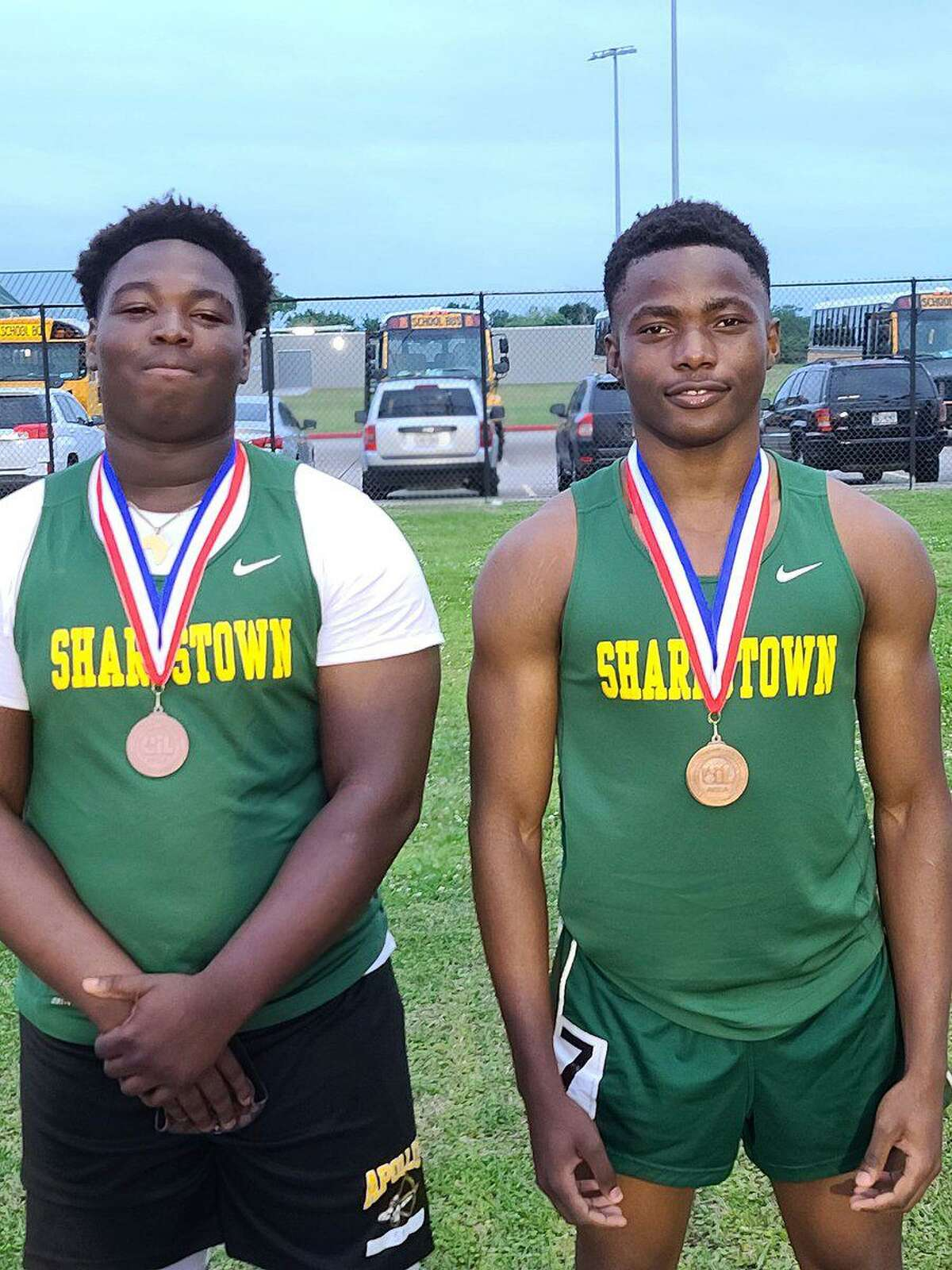 Sharpstown qualified two athletes for the Region III-5A championships, with Kashala Kapyamba advancing in the 400-meter dash andFechal Kouldiati advancing in the shot put.