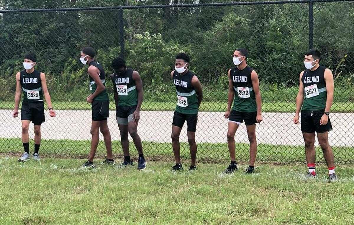 The Mickey Leland boys cross country team of Joshua Ekpo, Nicholas McFarlane, Adrian Rodriguez, Shane Bennett, Robert Chavez and Adam Myles won the District 23-4A championship.