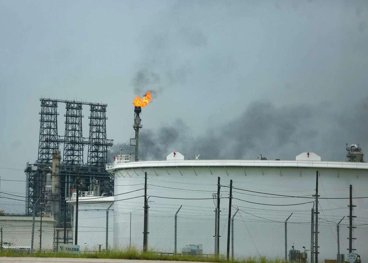A flare at the Valero Port Arthur Refinery in Port Arthur on Friday, Aug. 28, 2020.