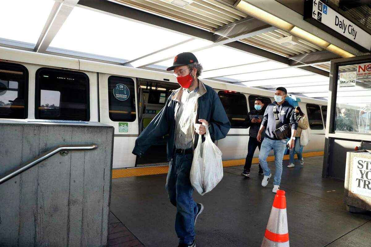 BART station in Daly City, Calif., on Wednesday, April 14, 2021.