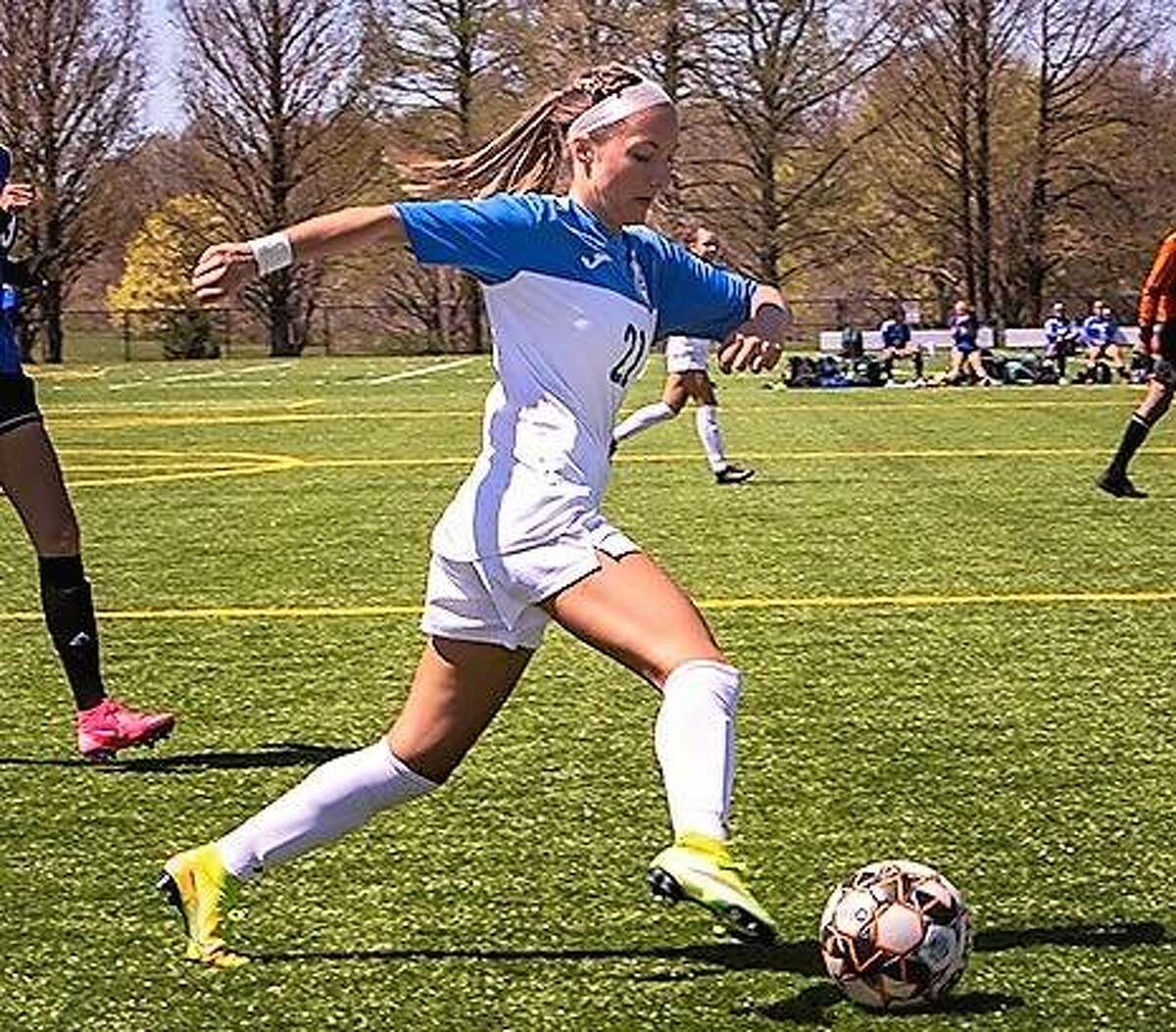 LCCC's Skylar Nickel, a freshman from Carlinville, scored the game-winning goal for the Trailblazers in Thursday's 2-1 overtime victory over Wabash Valley at Tim Rooney Field.