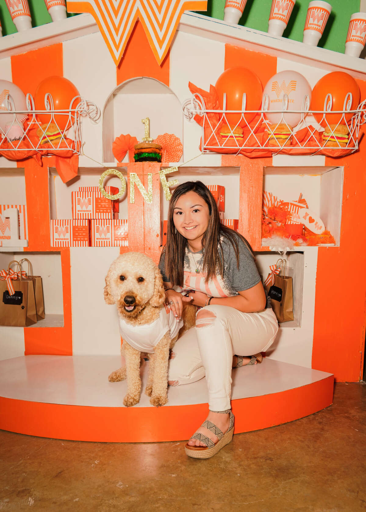 Chuco is the 1-year-old San Antonio Goldendoodle who had a Whataburger-inspired party.