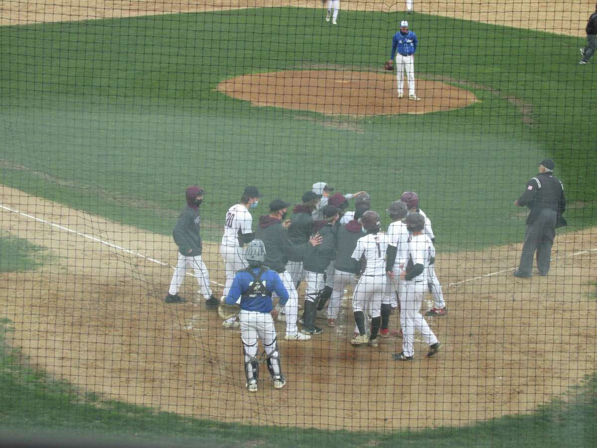 Torrington's lone bright spot in a mercy-rule loss to St. Paul Catholic came with Cooper Sumniski's grand slam home run in the bottom of the third inning.