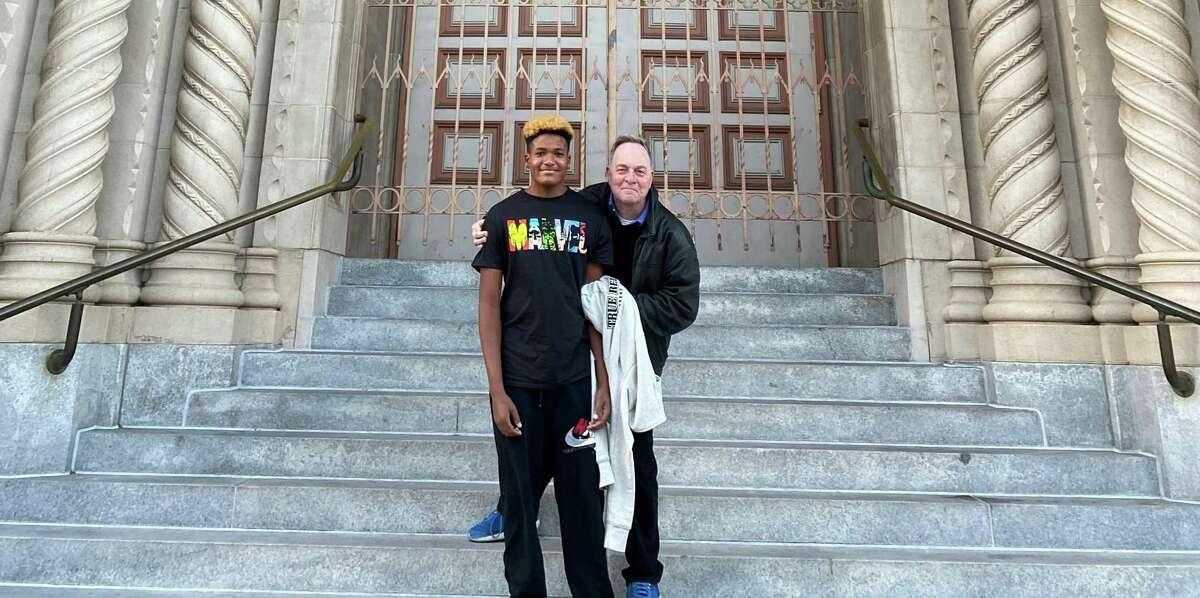 Zane Fisher-Paulson (left) and Kevin Fisher-Paulson.