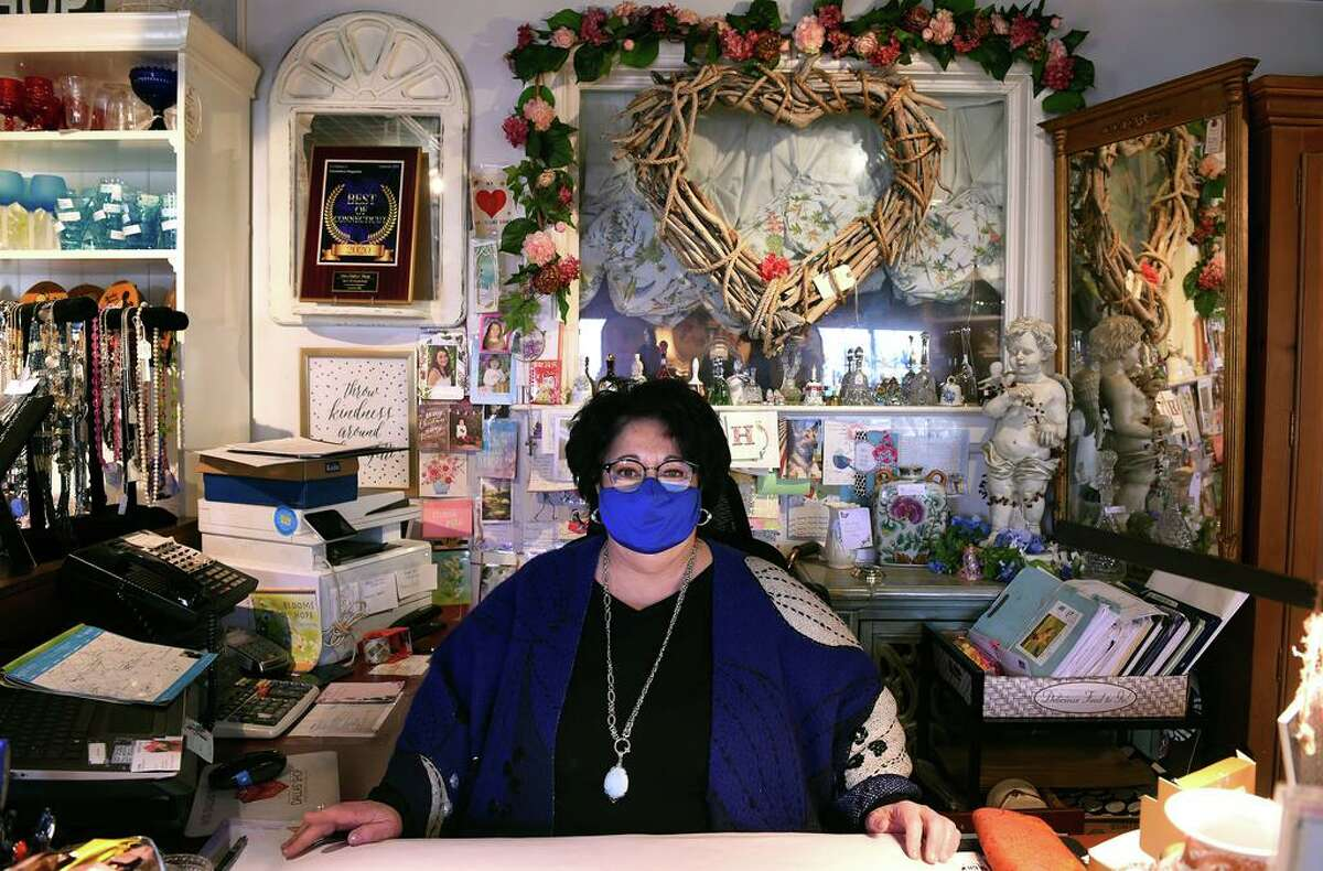 Lynda Tornatore-Kilgore, owner of Miss Dallas' Shop, is photographed inside the Milford store on April 20, 2021.