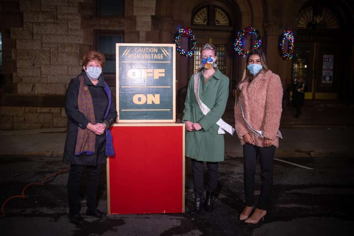 At the Albany Christmas Tree lighting with Mayor Kathy Sheehan in December. (Provided)