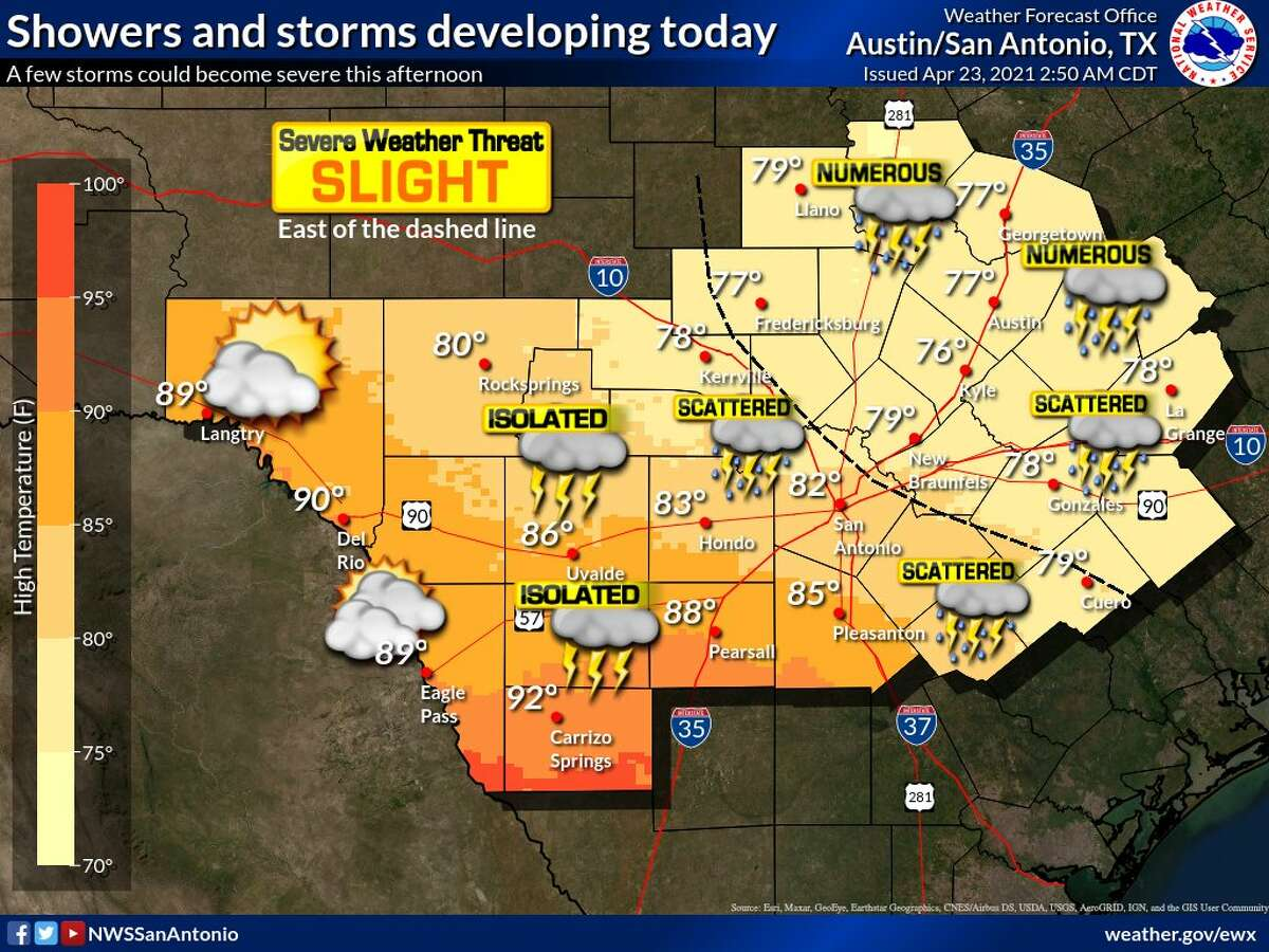 It will continue to be a muggy day in San Antonio, NWS says.