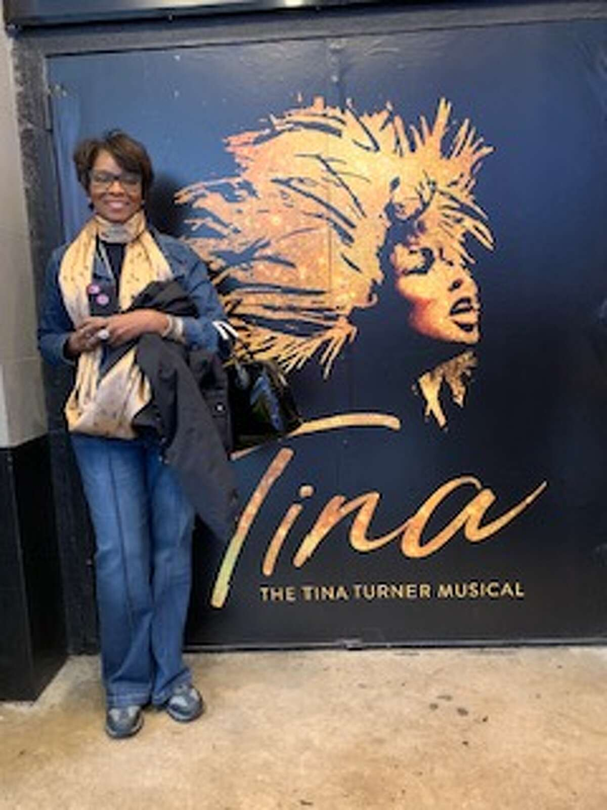1. I'm a huge fan of Tina Turner. I admire her not only because of her talent, but because of her resilience and ability to reinvent herself. Demanding she keep her name following her divorce from Ike Turner was one example. This photo is of me outside a New York City theater after attending her play, which was more like a concert. It was so great!