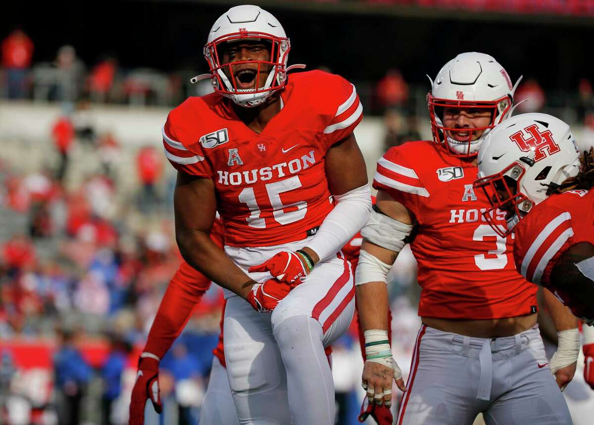 Zamar Kirven, celebrating an interception against Memphis in 2019, started five games as a sophomore but left the team after his junior season in 2020.