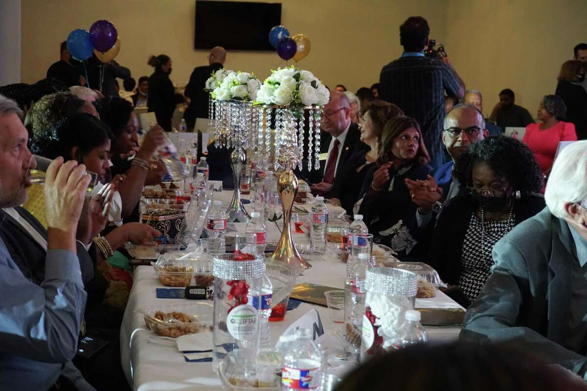 Guests attend the Fort Bend Iftar on Friday, April 16, at the Aloft Hotel in Katy.