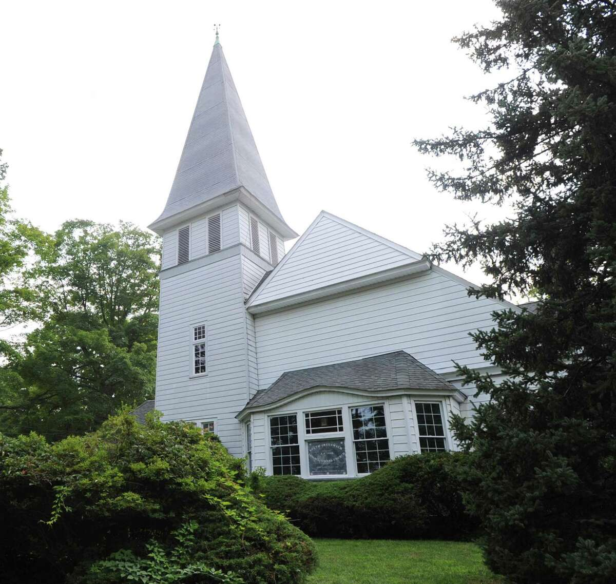 The North Greenwich Congregational Church at 606 Riversville Road in Greenwich is the new temporary home of the food pantry for Neighbor to Neighbor.