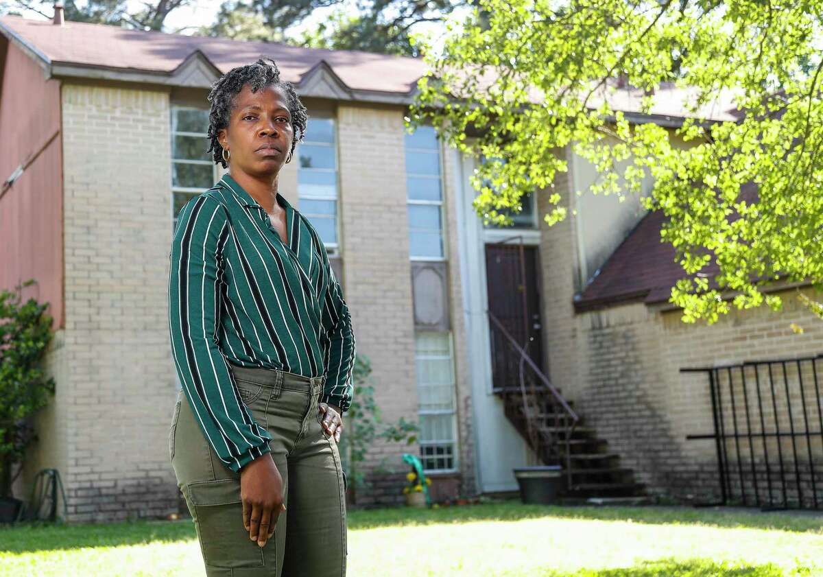 Kimberly Lee lives near Halls Bayou, Wednesday, April 21, 2021, in Houston. Lee said the watershed has flooded so often, and received so few protection projects in recent decades, that many residents believe local government leaders have forgotten them.