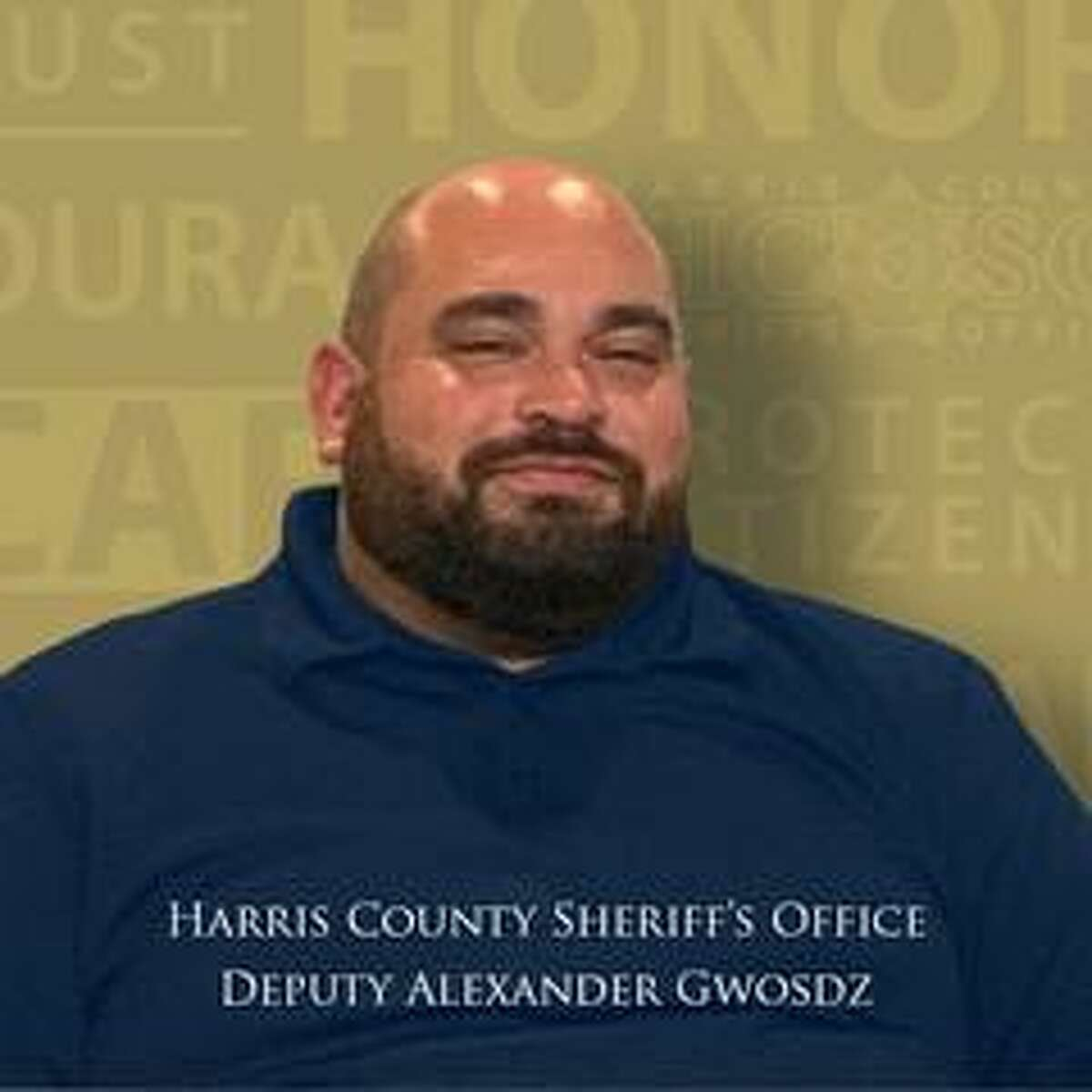 Harris County Sheriff's Dep. Alexander Gwosdz died Wednesday from complications related to COVID-19. He is the fifth employee of the sheriff's office to die from the disease.