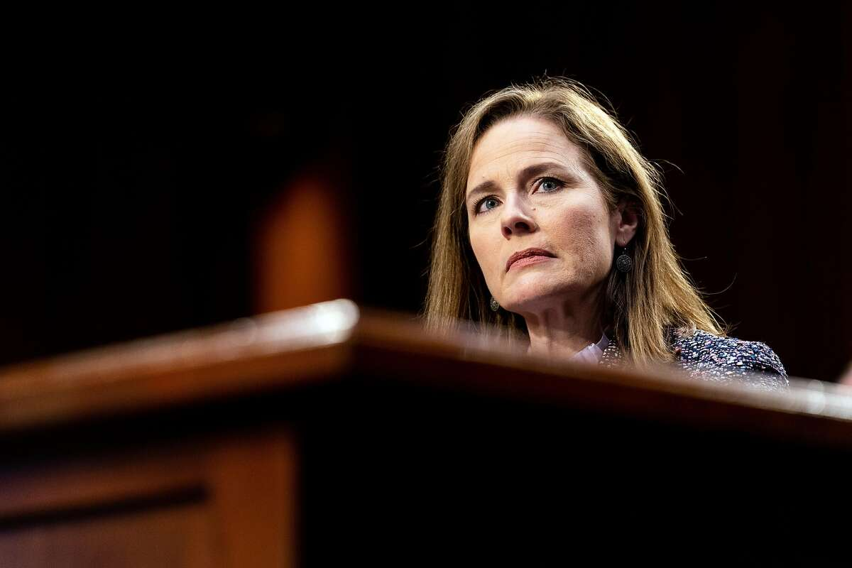 Supreme Court Justice Amy Coney Barrett was confirmed last year.