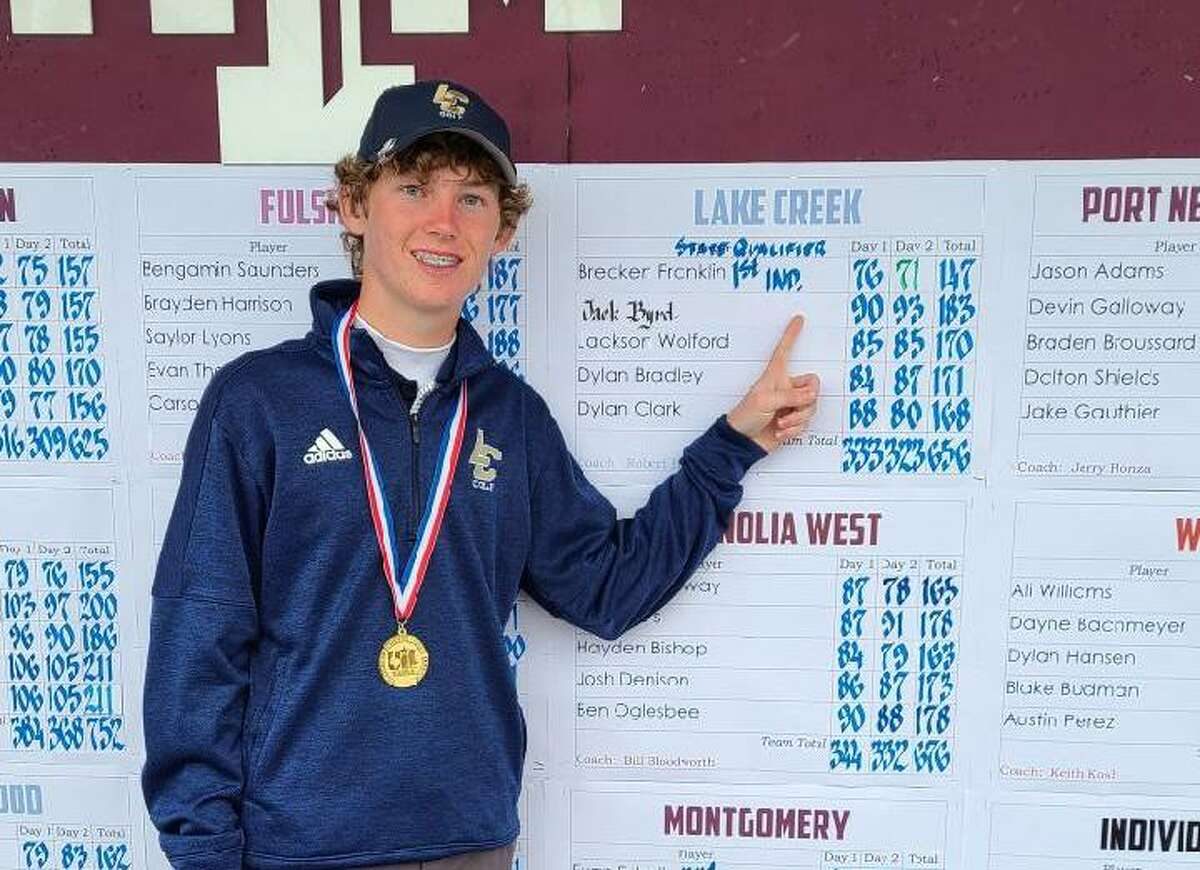 Lake Creek golfer Brecken Franklin won the Region III-5A championship.