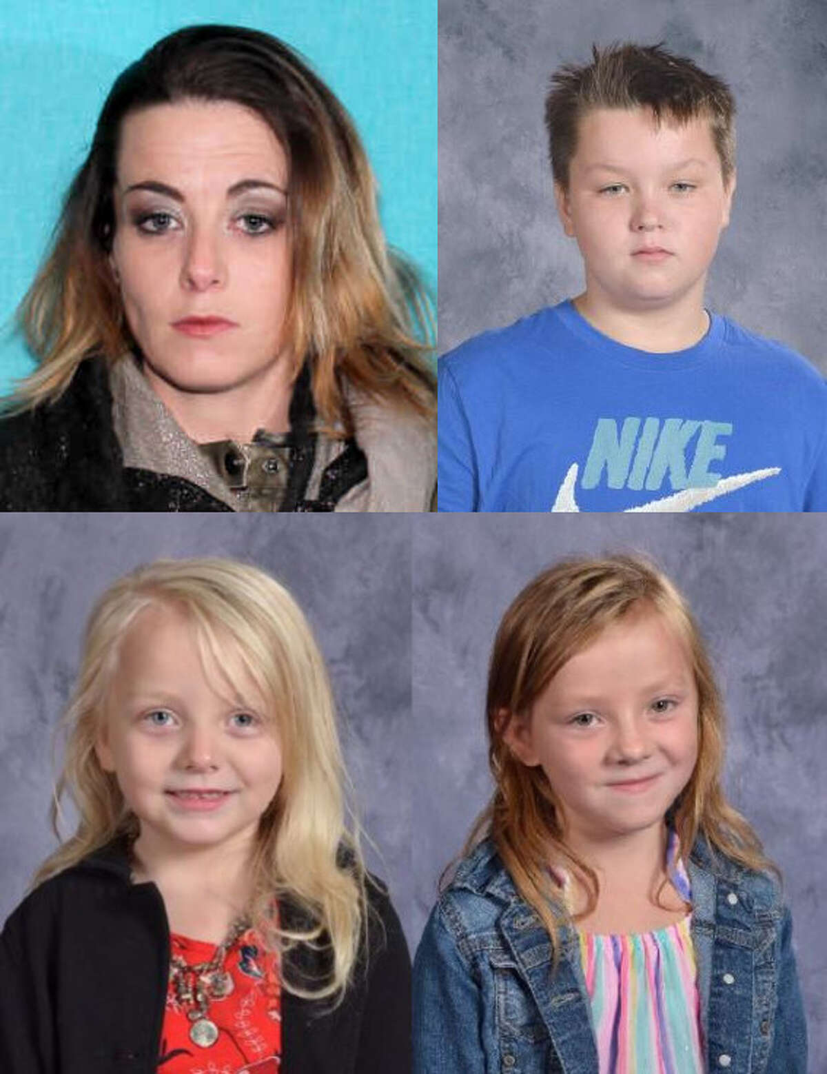 On Saturday, police said that the three children who had been missing from Manistee after their motherKimberly Berrentine, fled, have been found. A court order to remove the children from her care was issued that day. One child was found on April 23 in Midland. (Courtesy photos)