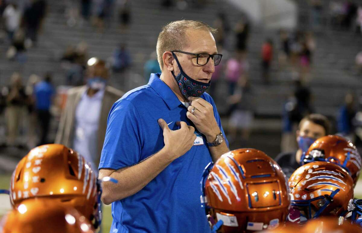 Due to the popularity of online school for thousands of its students, Conroe ISD hopes to have a virtual school option available next school year if approved by the state. Superintendent Curtis Null spoke at Moorhead Stadium in Conroe in October.