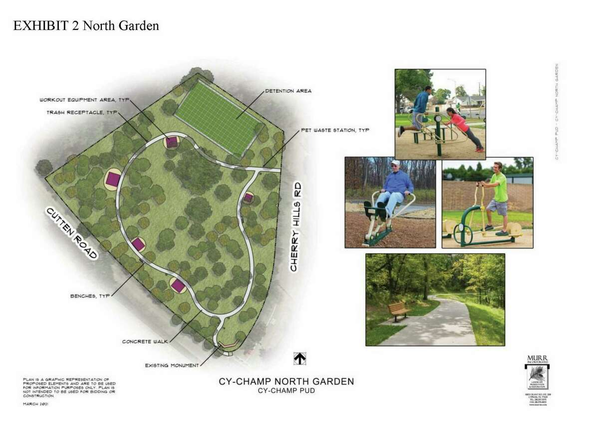Exhibit 2 North Garden for the Cy-Champ Public Utility District Community Master Plan proposed for passage in the May 1 Uniform Election.