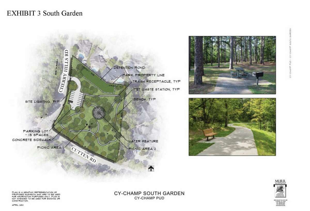 Exhibit 3 South Garden for the Cy-Champ Public Utility District Community Master Plan proposed for passage in the May 1 Uniform Election.