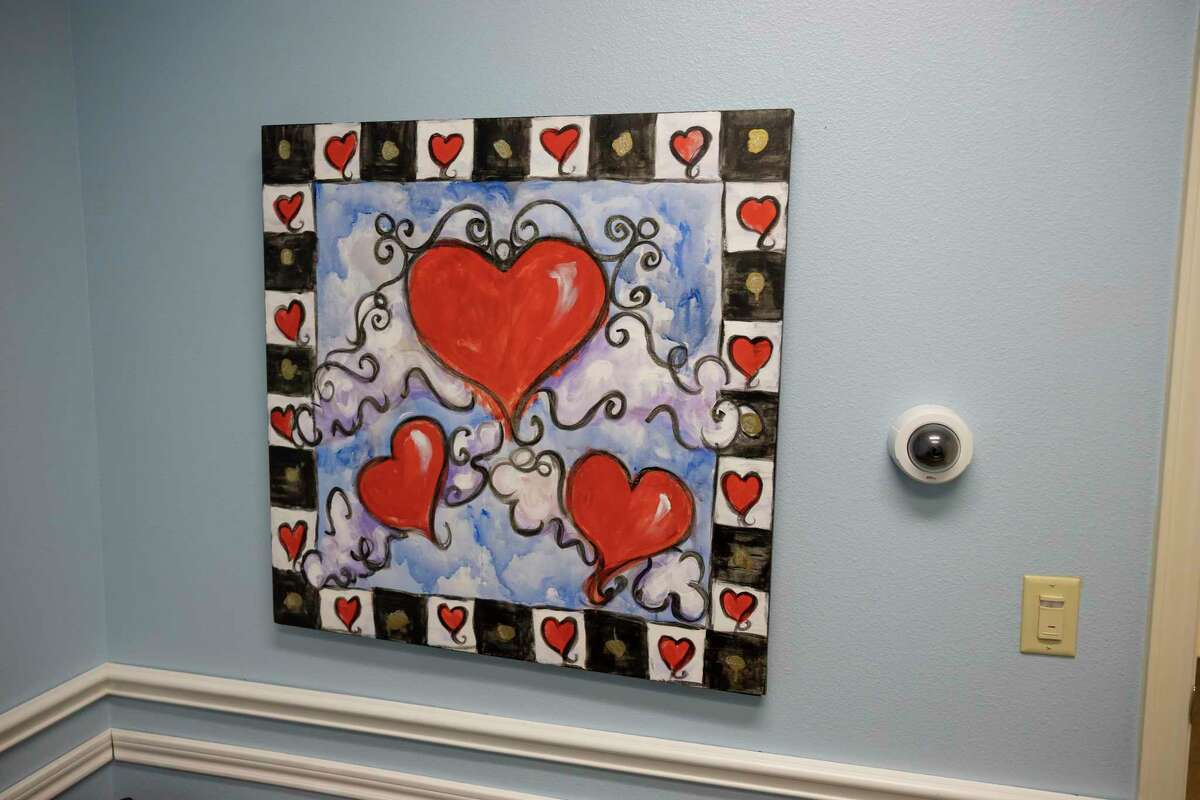 A painting is seen inside the interview room at Children's Safe Harbor, Wednesday, April 21, 2021, in Conroe.