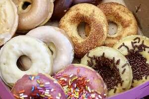 A mixed box of vegan doughnuts from Whack Donuts in San Francisco.