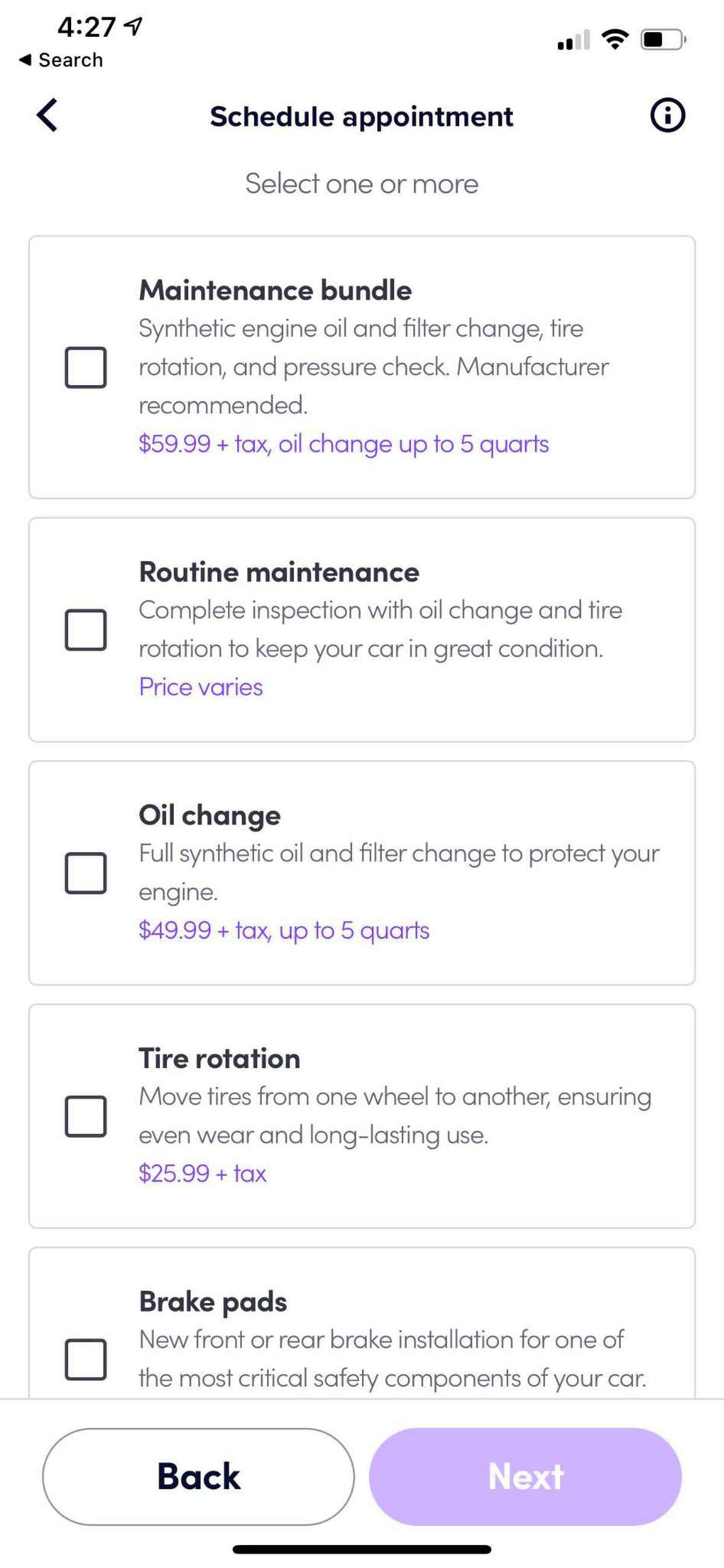 Lyft launches auto care services in Houston. Customers can book service appointments through the menu bar in the app's top left corner.