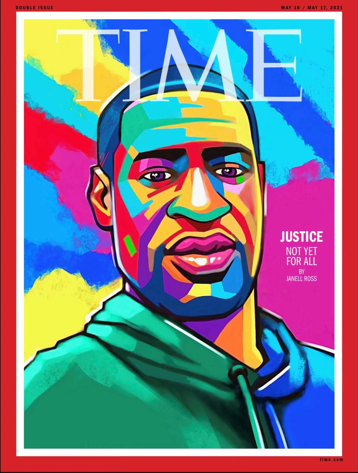 Houston-based artist Ange Hillz painted this week's cover of TIME in 24 hours on his iPad during a flight to Minneapolis for Daunte Wright's funeral.