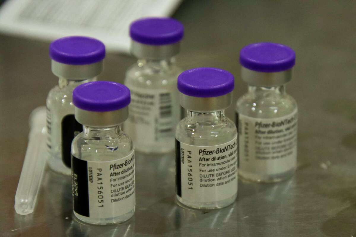 Nearly 50% of Huron County has received their first coronavirus vaccination, according to state data. (Scott Nunn/Tribune File Photo)
