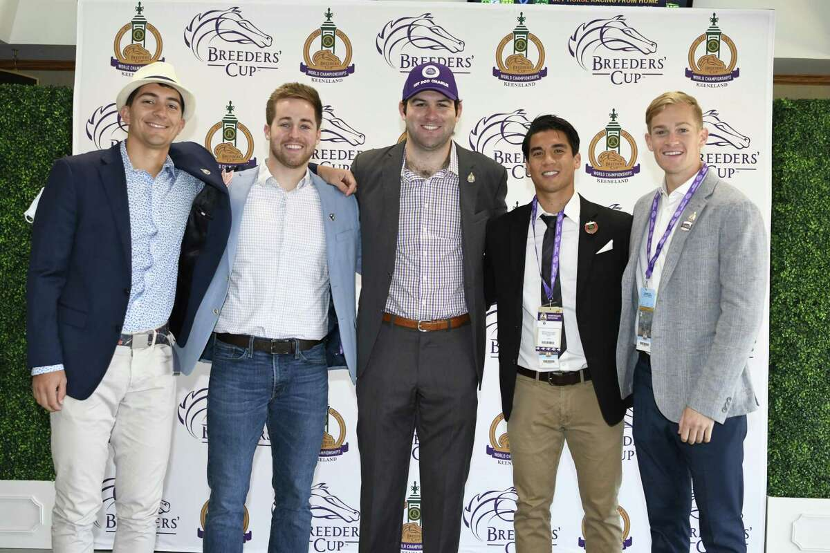 Alex Quoyeser and four of his former Brown football teammates/ fraternity brothers - Eric Armagost, Dan Giovachinni, Reiley Higgins and Patrick O'Neill - comprise Boat Racing LLC, which owns a 25 percent stake in Hot Rod Charlie.