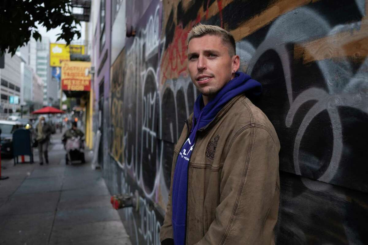 Greg Ritzinger visits San Francisco's Tenderloin neighborhood, where he used to use drugs and sleep in his car. Ritzinger is a now a student at UC Berkeley who plans to go into law after he graduates.
