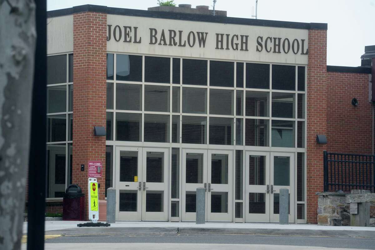 Exterior, Joel Barlow High School, in Redding, Conn. May 29, 2019.