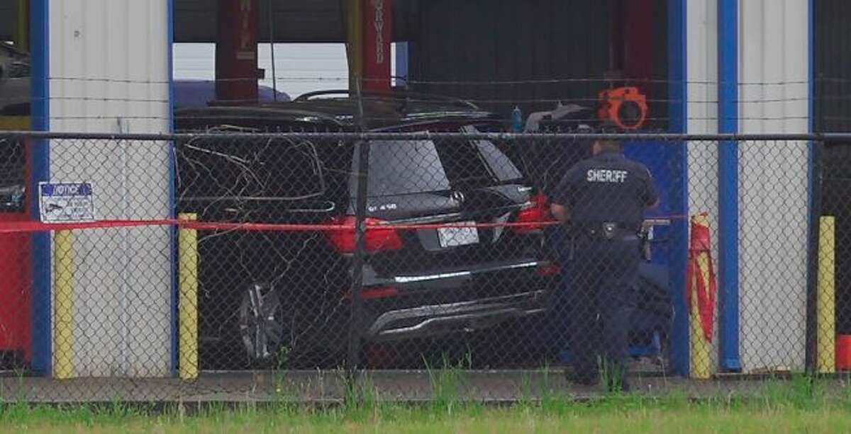 An employee was crushed to death after an SUV fell off a lift at a mechanic shop Friday afternoon in Spring, according to the Harris County Sheriff's Office.