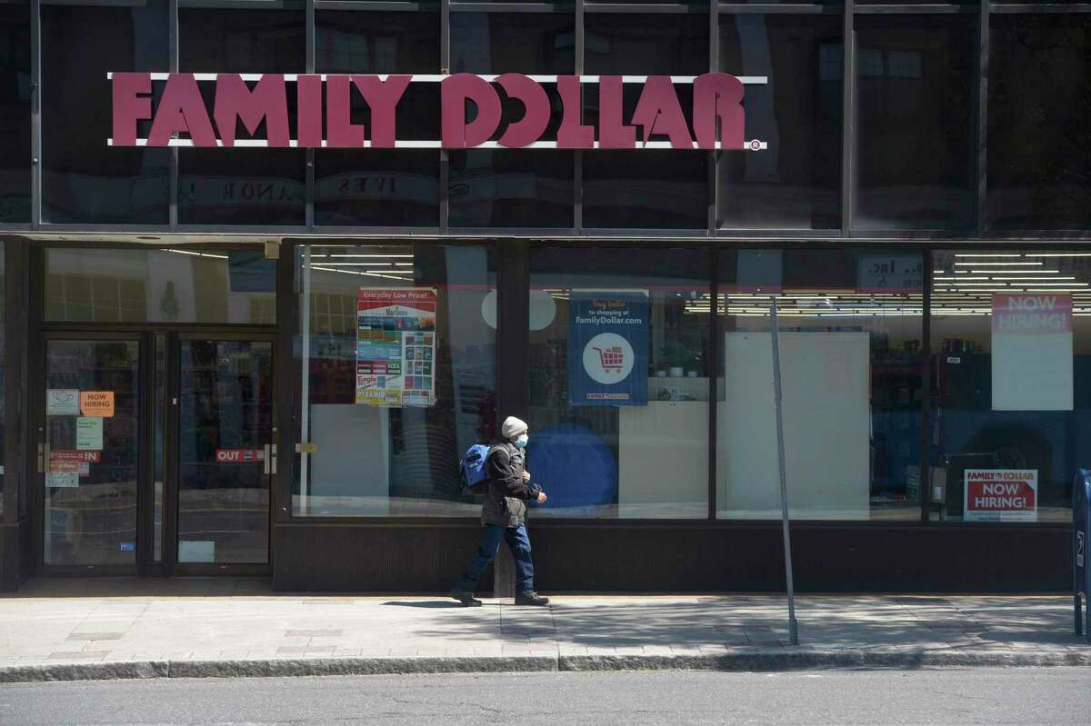 Family Dollar in downtown. New socioeconomic demographic information being shared about Danbury's neighborhoods will be used by a task force to develop the city masterplan for the next 10 years. Friday, April 23, 2021, in Danbury, Conn.