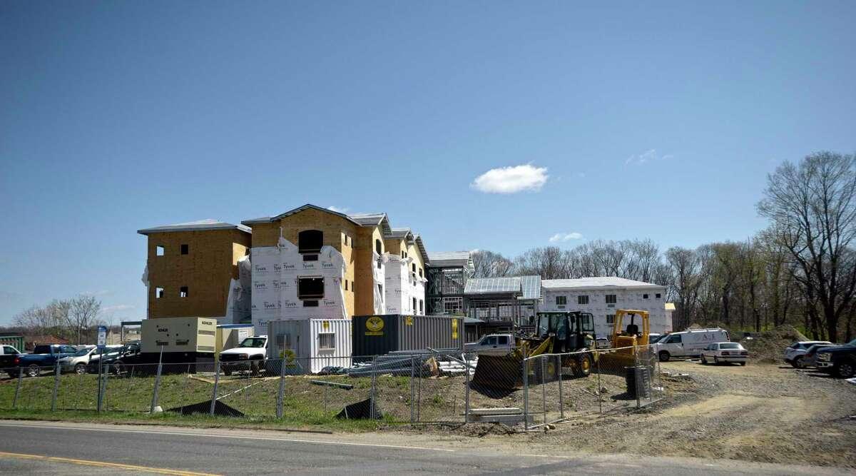Construction of Brookfield Senior Living at 291 Federal Road, Brookfield, Conn. Friday, April 23, 2021.